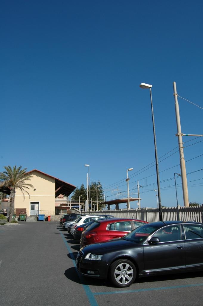 Uno scorcio della zona dove sorgeva lo scalo merci di Bordighera (IM)