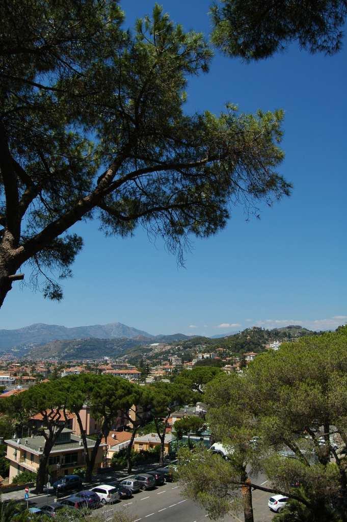 Uno scorcio della zona tra Ventimiglia e Bordighera